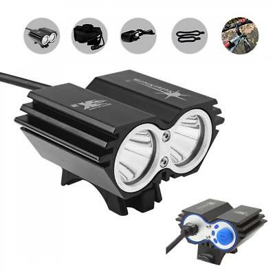 SolarStorm 8000LM 2 x CREE XM-L T6 Waterproof Bicycle LED Headlight with Battery