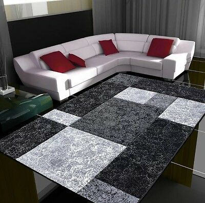 Large Small Black Silver Charcoal Soft Thick Rugs Cheap Rug Long Hall Runners