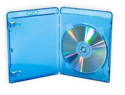 1 Blu Ray Cover Case 12mm Holds Single BluRay Disc with Clear plastic on front