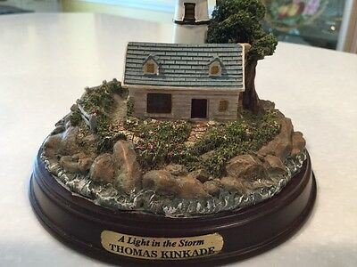 "Thomas Kinkade collectible ""A Light in the Storm"",lighthouse"