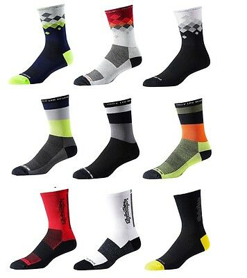 Troy Lee Designs ACE Performance Cycling Crew Socks- BMX MTB - All Designs/Sizes