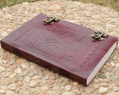Tree Of Life WICCA Large Book Of Shadows Handmade Journal 240 PGs Diary notebook