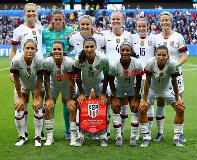 Usa Womens Soccer National Team 8X10 Photo 2019 Fifa World Cup