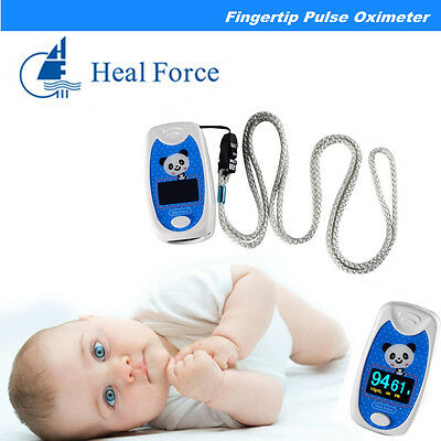 1*Child/Pediatric Finger Pulse Oximeter SpO2 & PR Oxygen LCD CE Alarm Kids Use