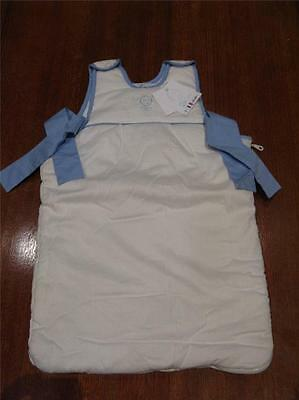 NEW DPAM Baby Boutique WHITE BLUE Sleeping Bunting Bag