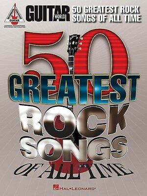 50 Greatest Rock Songs Of All Time Guitar TAB Book *NEW* Sheet Music, 512 Pages