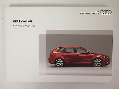 2011 Audi A3 Owners Manual Guide Book