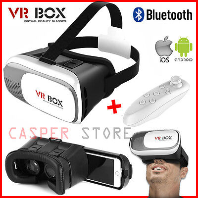 3D Virtual Reality VR Box 2.0 Google Glasses Cardboard Video Game Remote Control