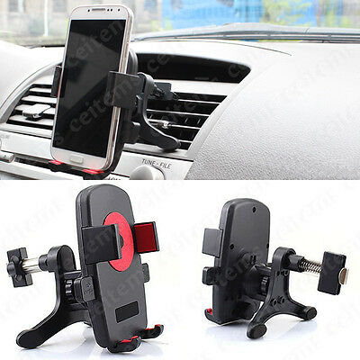 Universal 360°Rotation Car Air Vent Mount Cradle Holder Stand for Cell Phone GPS