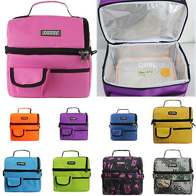 1250ML FOOD GRADE Insulated Thermal Travel Picnic Lunch Cooler Shoulder Tote Bag