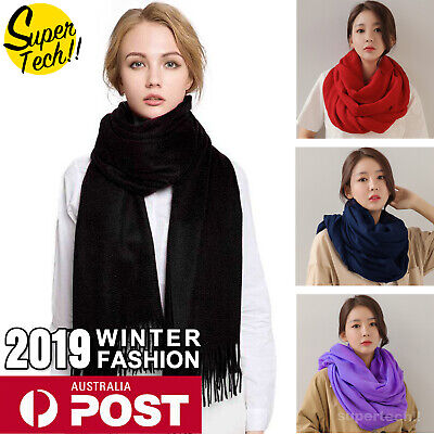 Soft Ladies Pashmina Scarf Neck Wrap Long Shawl Women Girl Winter Warmer Snood