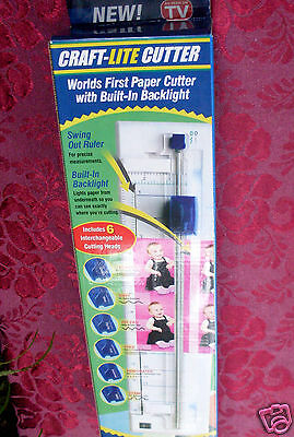 BRAND NEW As SEEN on TV Craft-Lite Cutter with Back Light + 6 Paper Cutter Heads