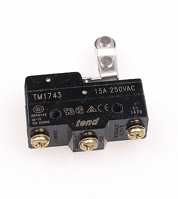 2pcs TM-1743 One-way Roller Lever Momentary Micro Limit Switch