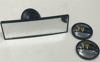 2x Blind Spots + 1x Mini Suction Rear View Driving Wide Angle Mirror Car Learner