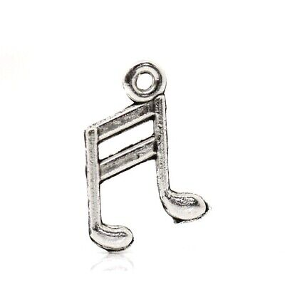 Music Note Charm/Pendant Tibetan Antique Silver 14mm  20 Charms Accessory Crafts