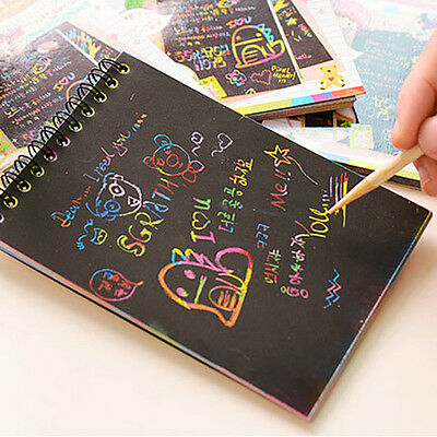 Stationery Set Notebook Journal Wooden Stylus Scratch Paper Note Drawing Toys