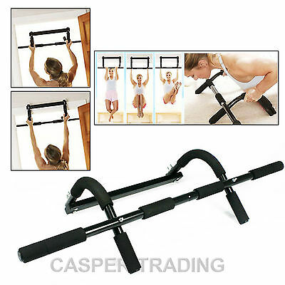 Gym Fitness Chin Up Pull Up Bar Strength Situp Dips Exercise Workout Door Bars