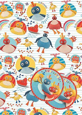 Twirlywoos | Chickedy Chick 2 Sheets of Giftwrap | Paper | 2 Gift Tags