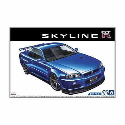 [Aoshima 1/24] 51597 The Model Car 08 Nissan BNR34 Skyline GT-R V-specII 2002