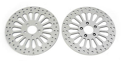 "11.8"" Brake Rotors Front Rear Fit Harley Touring Flht Flhtc 08-Up Dyna 06-09"