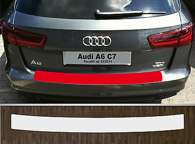 bumper strip protective film clear Audi A6 Avant Facelift from 2014