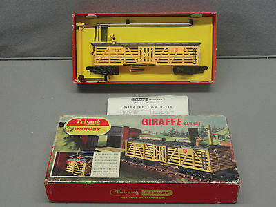 Tri-Ang Hornby Triang R.348 Giraffe Car Set Complete  in box MINT