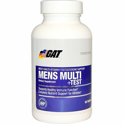 GAT MEN'S MULTI + TEST Testosterone Booster SEX DRIVE LIBIDO, 60 Tablets - NEW