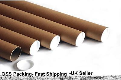 """12 x 1320mm 52"""" x 2"""" 50mm EXTRA LONG CARDBOARD POSTAL TUBES Mailing Posters ART"""