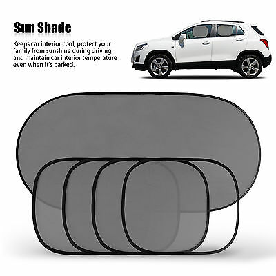 5Pcs Side Rear Window Mesh Sunshade Sun Shade Cover for Car UV Protection Set
