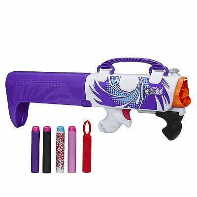 NERF Rebelle Secret Clutch Bag Shot Blaster Toy For Girls - Purple