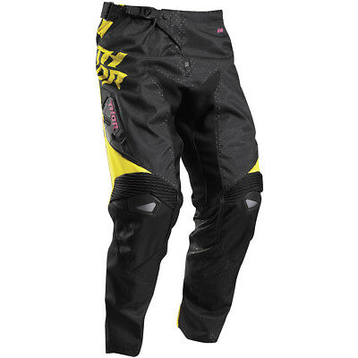 Thor 2017 NEW Kids Mx Fuse Air Dazz Yellow Black Magenta Youth Motocross Pants