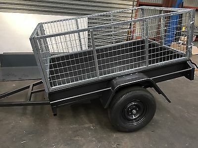 6x4 Cage Trailer fixed front