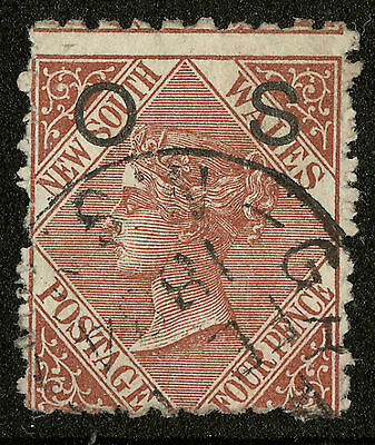 New South Wales  1881  Scott # O 15  USED