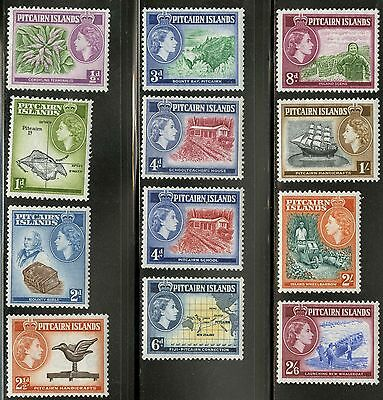 Pitcairn Islands  1957-58  Scott # 20-31 MLH Set