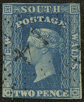 New South Wales  1856  Scott # 33  USED