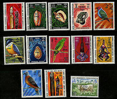 New Hebrides Eng  1977   Scott # 217-229  MLH Set