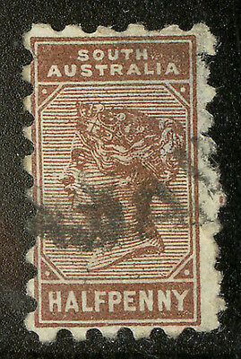 South Australia  1883-90  Scott # 76  USED  Thinned