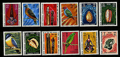 New Hebrides Eng  1972   Scott # 155-166  MLH Set