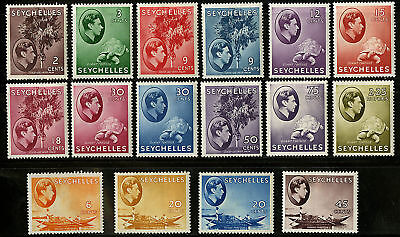 Seychelles  1938-41  Scott # 125-147  MLH Part Set