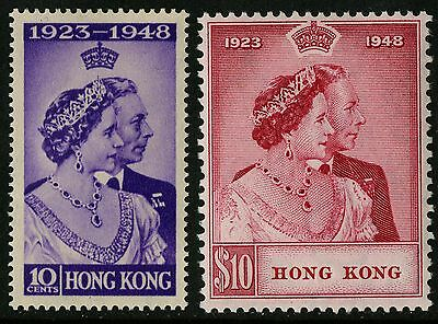 Hong Kong   1948   Scott # 178-179    Mint Lightly Hinged Set