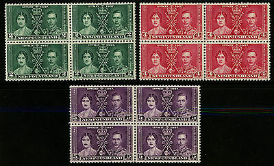 Barbados   1937   Scott #190-192    Mint Never Hinged Block Set