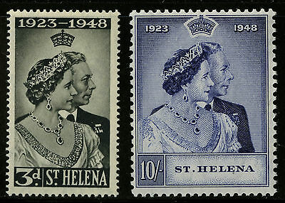 St Helena   1948   Scott # 130-131    Mint Lightly Hinged Set