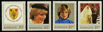 Barbados   1982   Scott #585-588    Mint Never Hinged Set