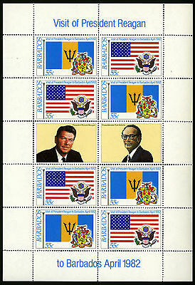 Barbados   1982   Scott #582a-584a    Mint Never Hinged Sheet