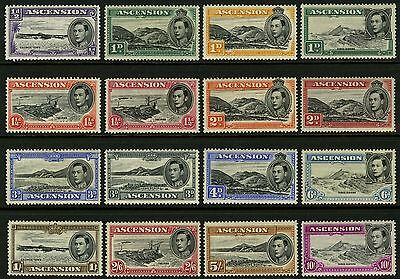 Ascension  1938-53   Scott # 40-49   MNH to MLH Set