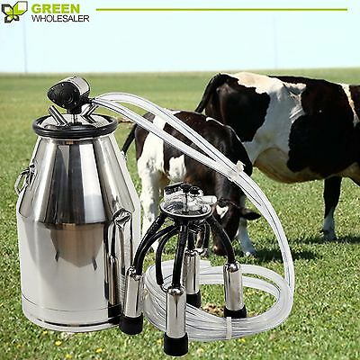 304 Stainless Steel Cow Milker Top Quality  Milk Bucket  Cow Milking Equipment