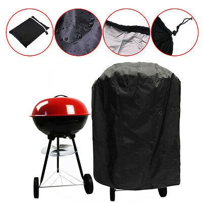 Waterproof BBQ Cover Grill Outdoor Fire Pit Gas Dust Rain Protector Round 77CM
