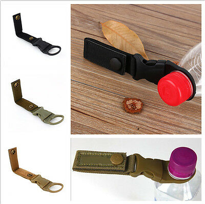 New Useful Outdoor Water Bottle Holder Webbing Buckle Clip For Camping Hiking AU
