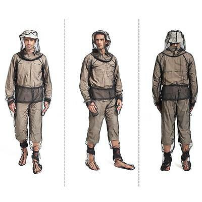 Hiking Summer Bug Wear Mosquito Suit W/ Mesh Jacket Mitts Pants Socks S5R7