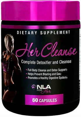 NLA for Her Cleanse - Complete 14 Detoxifier (60 Capsules) - Weight Loss,Slimmer